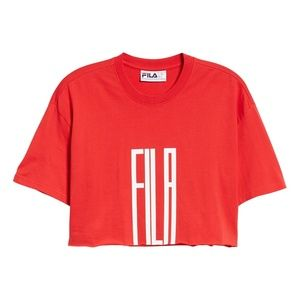 FILA Domenica Crop Cotton Tee